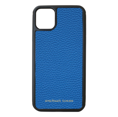Blue Pebbled Leather iPhone 11 Pro Max Case