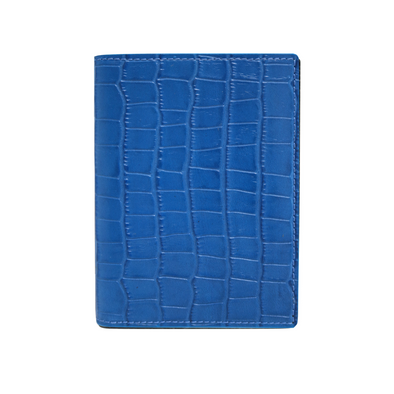 Blue Croc Passport Holder