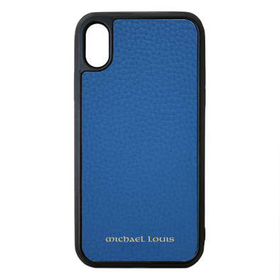 Blue Para Leather iPhone XS Max Case