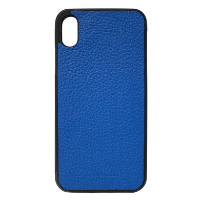 Blue Pebbled Leather iPhone XR Case