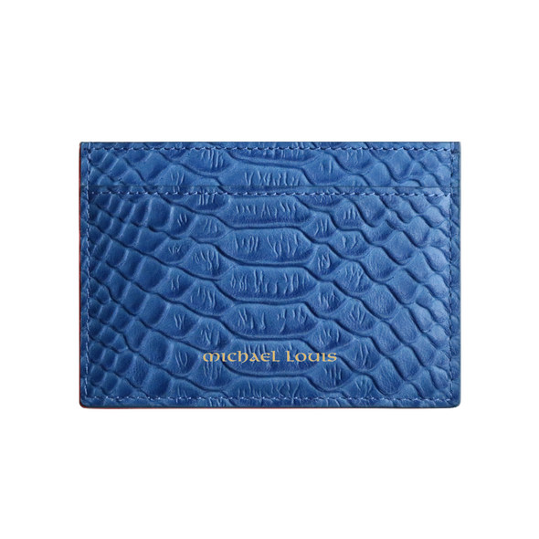 Blue Python Classic Card Holder