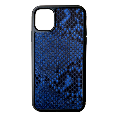 Blue Python Snakeskin iPhone 11 Case