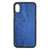 Blue Python Snakeskin iPhone X/XS Case