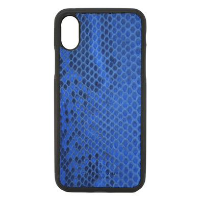 Blue Python Snakeskin iPhone XR Case