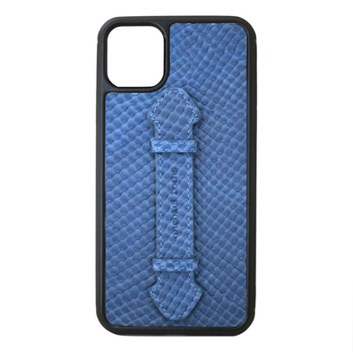 Blue Snake iPhone 11 Pro Max Strap Case