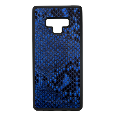 Blue Python Snakeskin Galaxy Note 9 Case