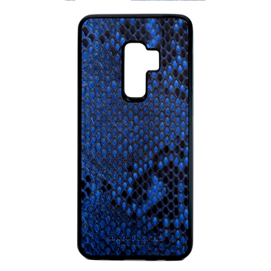 Blue Python Snakeskin Galaxy S9 Plus Case