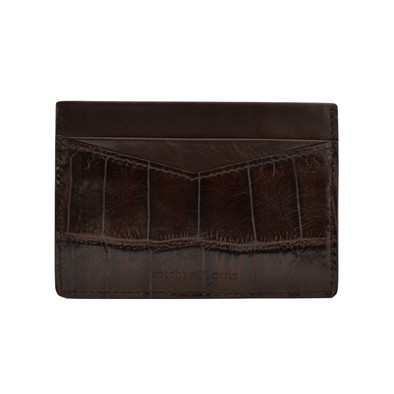 Brown Croc Embossed V2 Card Holder