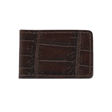 Brown Croc Money Clip