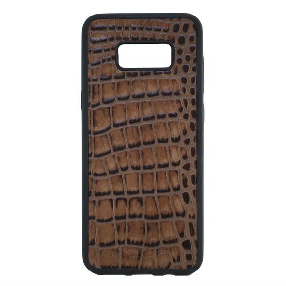 Brown Croc Galaxy S8 Plus Case