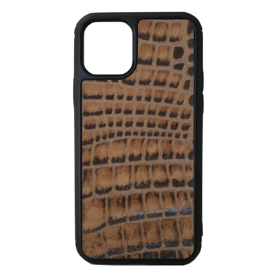 Brown Croc iPhone 11 Pro Case