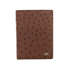 Brown Ostrich Passport Holder