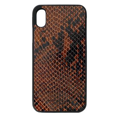 Brown Patent Snake iPhone XR Case