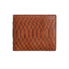 Brown Python Classic Bifold Wallet