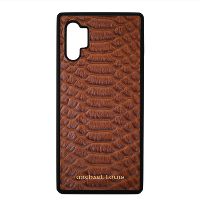 Brown Python Galaxy Note 10 Plus Case