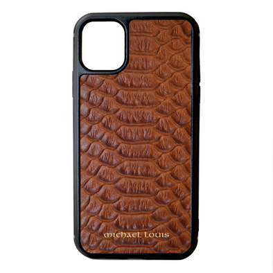 Brown Python iPhone 11 Case