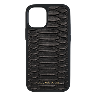 Genuine Black Python iPhone 12 Mini Case