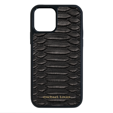 Genuine Black Python iPhone 12 Pro Max Case