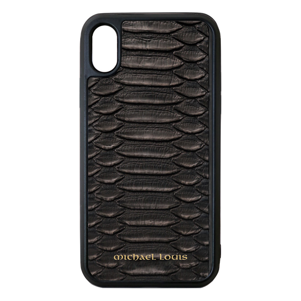 Genuine Black Python iPhone X/XS Case
