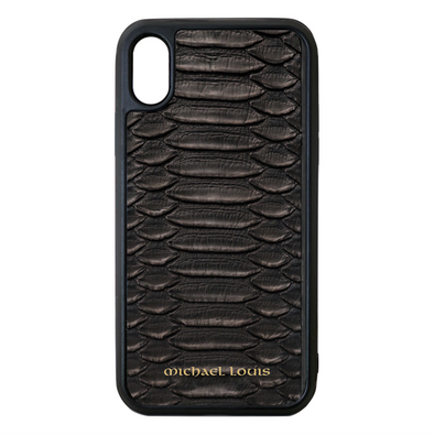 Genuine Black Python iPhone XR Case