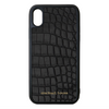 Genuine Matte Black Croc iPhone XS Max Case