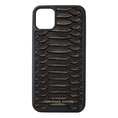 Genuine Black Python iPhone 11 Case