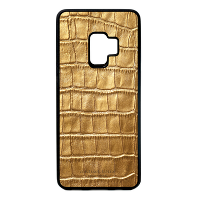 Gold Croc Galaxy S9 Case