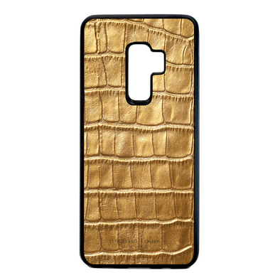 Gold Croc Galaxy S9 Plus Case