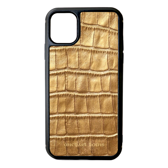 Gold Croc iPhone 11 Case