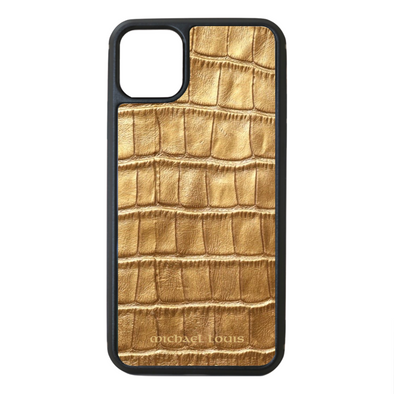 Gold Croc iPhone 11 Pro Max Case