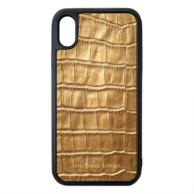 Gold Croc iPhone XS Max Case