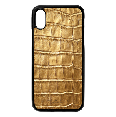 Gold Croc iPhone X/XS Case