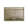 Gold Python Classic Card Holder