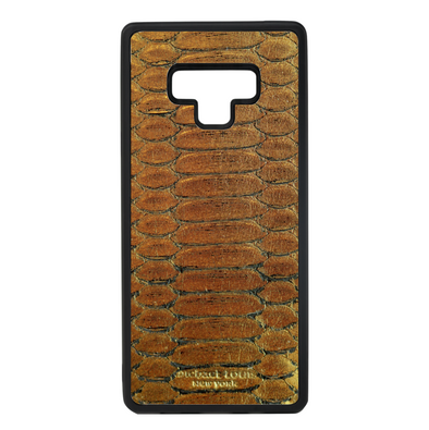 Gold Python Galaxy Note 9 Case