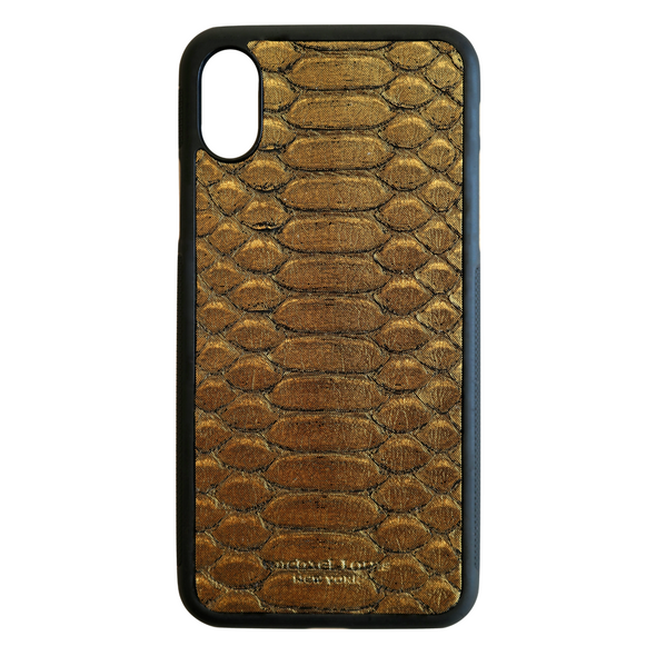 Limited Edition Gold Python iPhone X Case