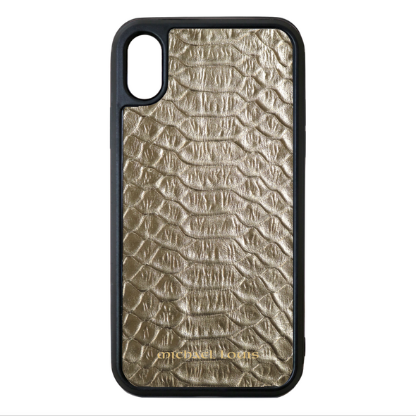 Gold Python iPhone X/XS Case