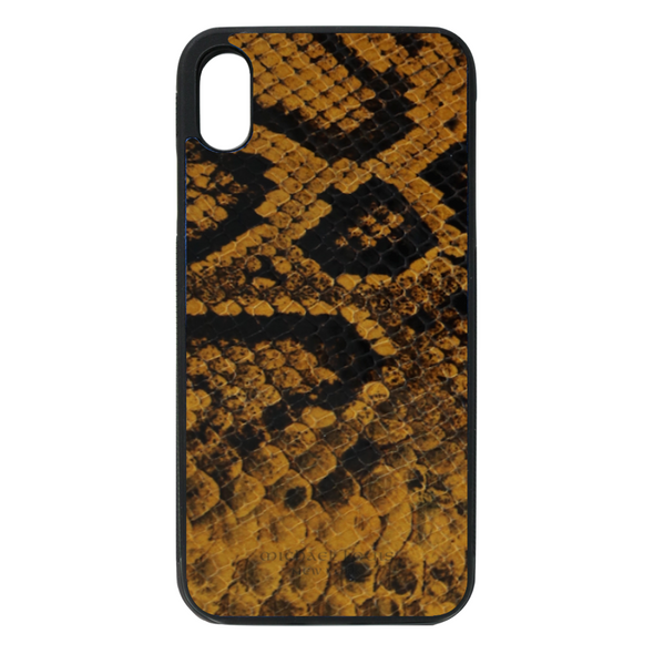 Golden Yellow Snake iPhone XR Case