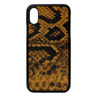 Golden Yellow Snake iPhone X/XS Case