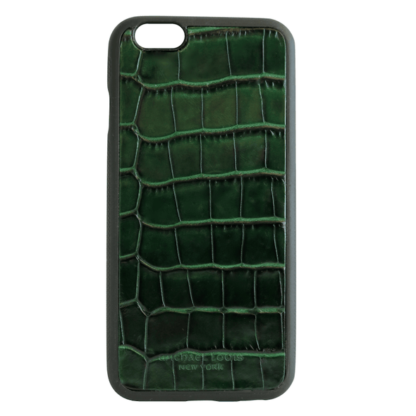 "Green Croc iPhone ""1"" 6/6S Case"