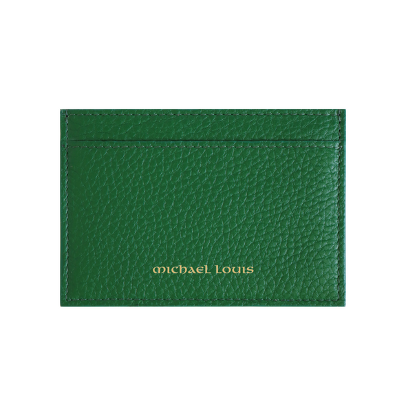 Green Pebbled Leather Classic Card Holder