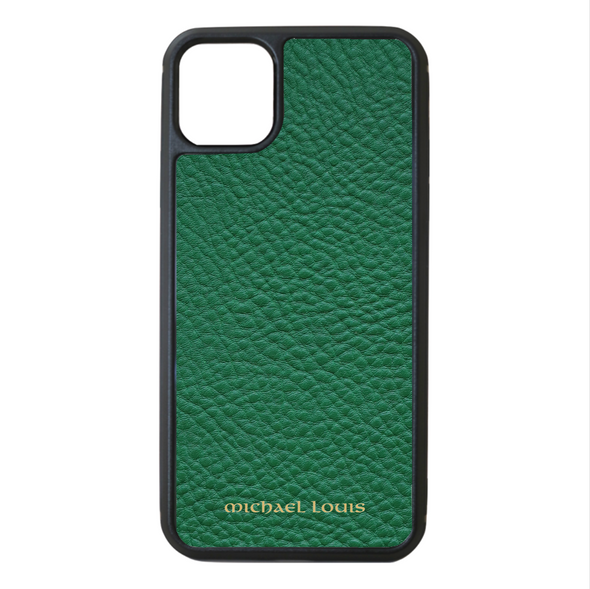 Green Pebbled Leather iPhone 11 Pro Max Case