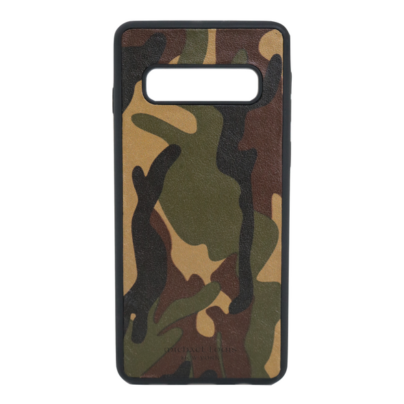 Camo Leather Galaxy S10 Case