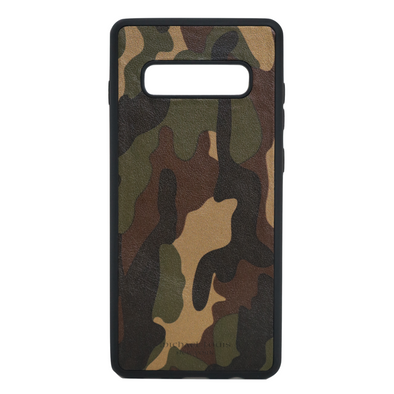 Camo Leather Galaxy S10 Plus Case