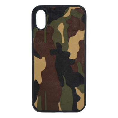 Camo Leather iPhone XR Case
