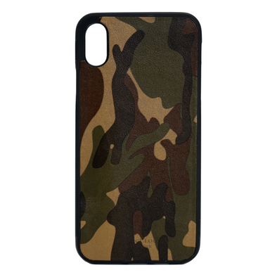 Camo Leather iPhone XS Max Case