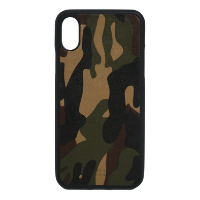 Camo Leather iPhone X/XS Case