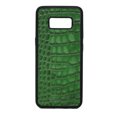 "Green Croc ""3"" Galaxy S8 Case"