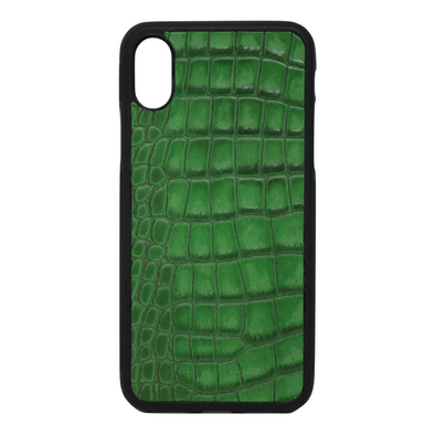 "Green Croc ""3"" iPhone XR Case"