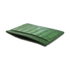 "Green Croc ""3"" Classic Card Holder"
