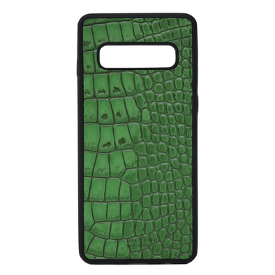 "Green Croc ""3"" Galaxy S10 Plus Case"